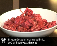 Tas kebab iin et nasl seilir?
